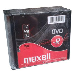 DVD-R MAXELL 4,7GB 16X Slim (10ks)