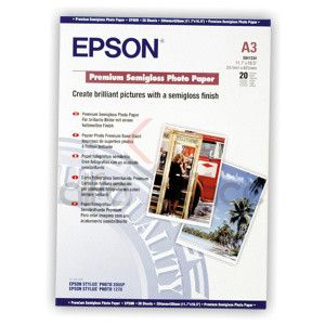 papier EPSON S041334 Premium semi-gloss photo 251g/m2, A3, 20ks