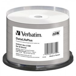 DVD-R VERBATIM DTL+  Printable Thermal 4,7GB 16X 50ks/cake