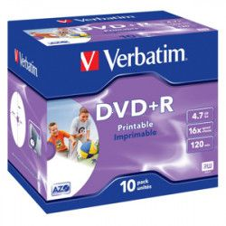 DVD+R VERBATIM Printable 4,7GB 16X 10ks/bal.
