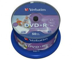 DVD+R VERBATIM 4,7GB 16X 50ks/cake NO ID WIDE printable